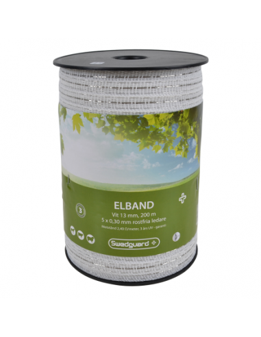 ELBAND + 13 MM WHITE 200 M 5X0,30