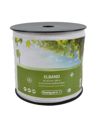 ELBAND + 20 MM WHITE 200 M 4X0,16
