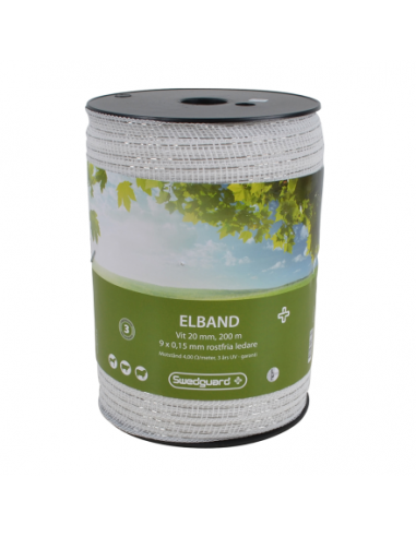 ELBAND + 20 MM WHITE 200 M 9X0,15