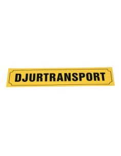 Djurtransportskylt 90 x 20 cm