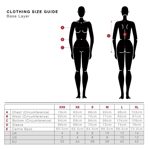 LeMieux Base Layer size guide