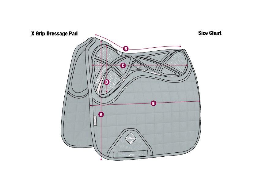 X-Grip Sressage Saddlepad